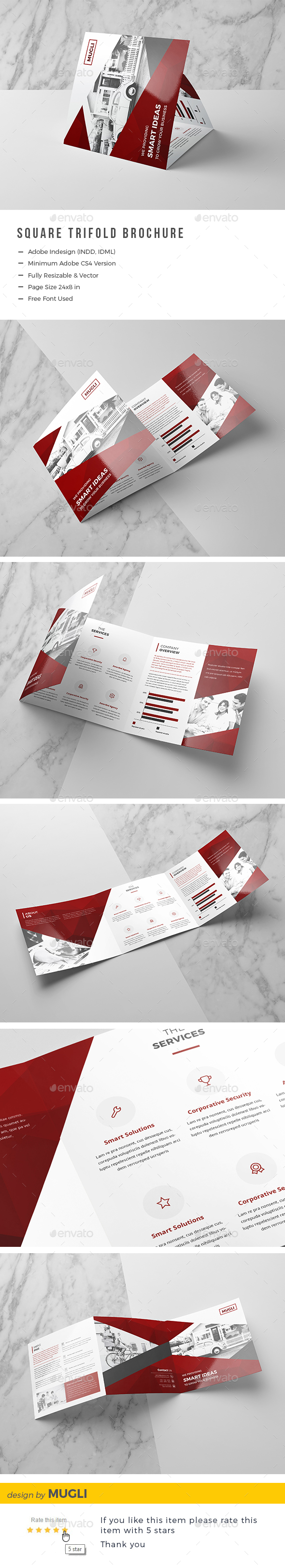 Square Trifold Brochure - Corporate Brochures