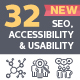 Seo, Accessibility & Usability Icons - Line Series - GraphicRiver Item for Sale