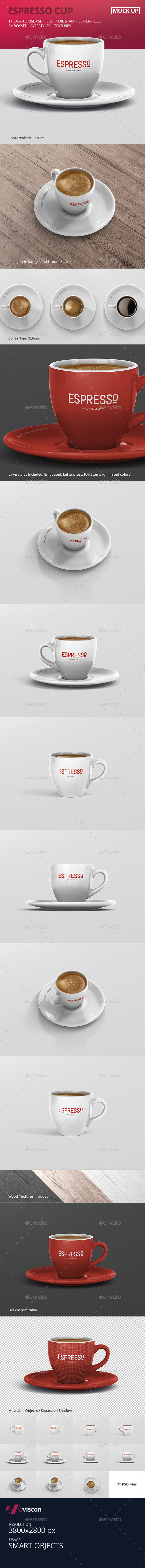 Espresso Cup Mockup - Food and Drink Packaging