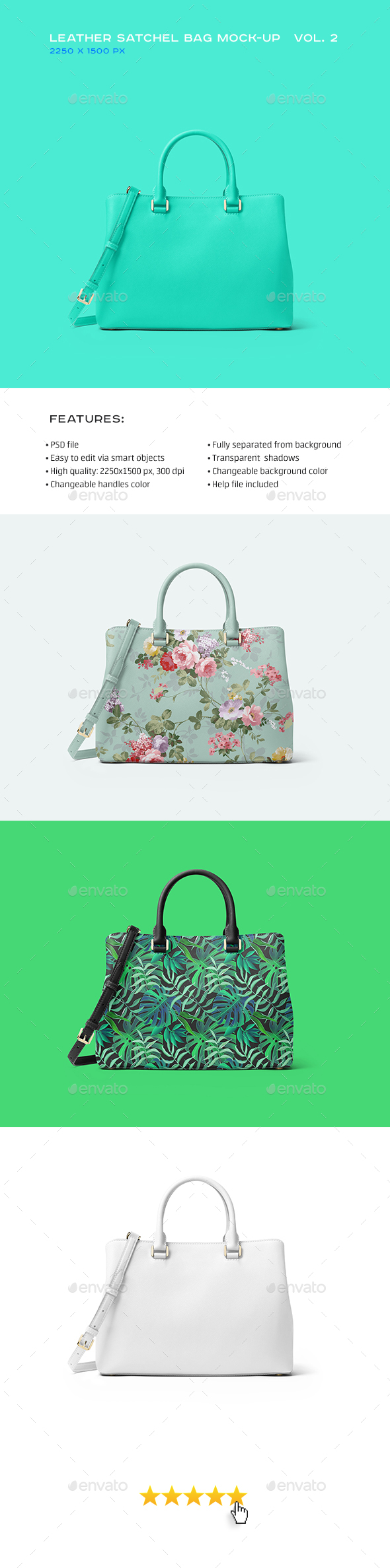 Leather Satchel Bag Mock-up vol.2 - Miscellaneous Print