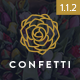 Confetti - Responsive Wedding WordPress Theme