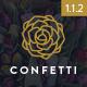 Confetti - Responsive Wedding WordPress Theme Nulled