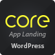 Core - Responsive App Landing WordPress Theme - ThemeForest Item for Sale