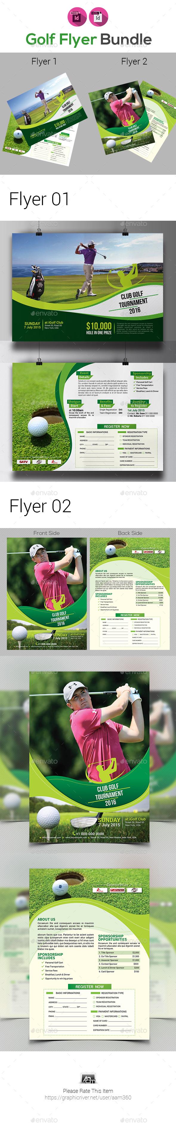 Golf Tournament Flyers Bundle V2 - Sports Events