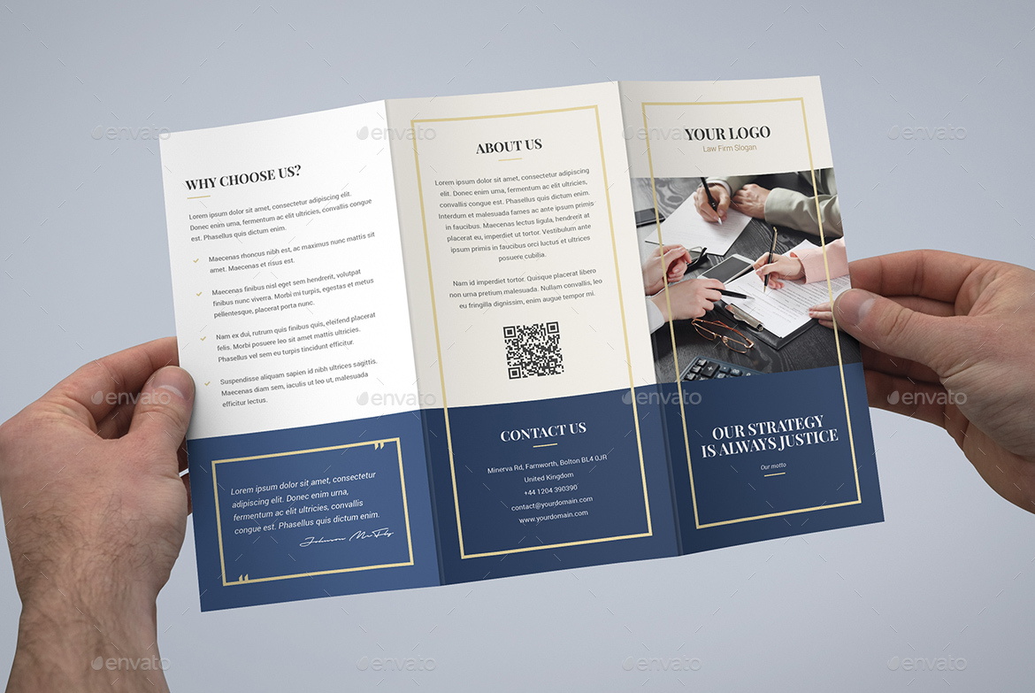 Brochure law firm tri fold by artbart graphicriver for Legal brochure template