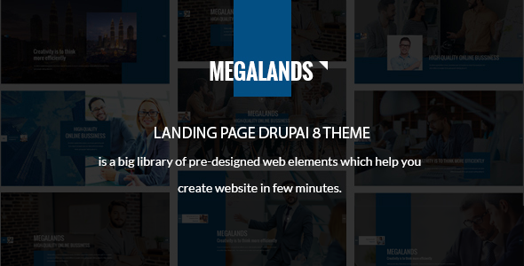 MegaLands – Multipurpose Landing Pages Drupal 8 Theme