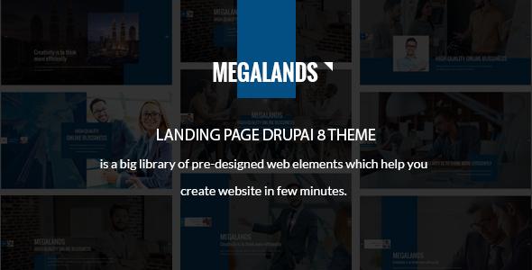 MegaLands - Multipurpose Landing Pages Drupal 8 Theme