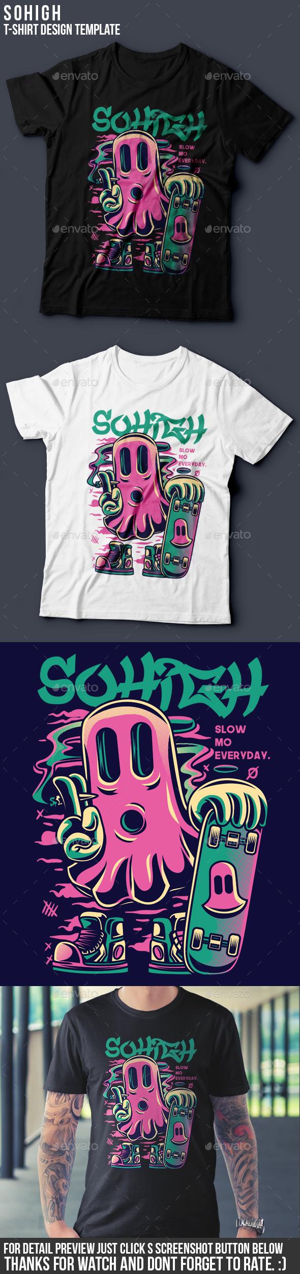 So High T-Shirt Design - Funny Designs