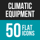 Climatic Equipment Flat Multicolor Icons - GraphicRiver Item for Sale