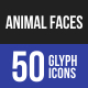 Animal Faces Glyph Icons - GraphicRiver Item for Sale