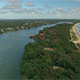 Backward Flyover Beach and River - VideoHive Item for Sale