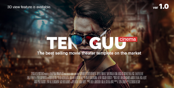 Tenguu Cinema – Movie theatre HTML Template