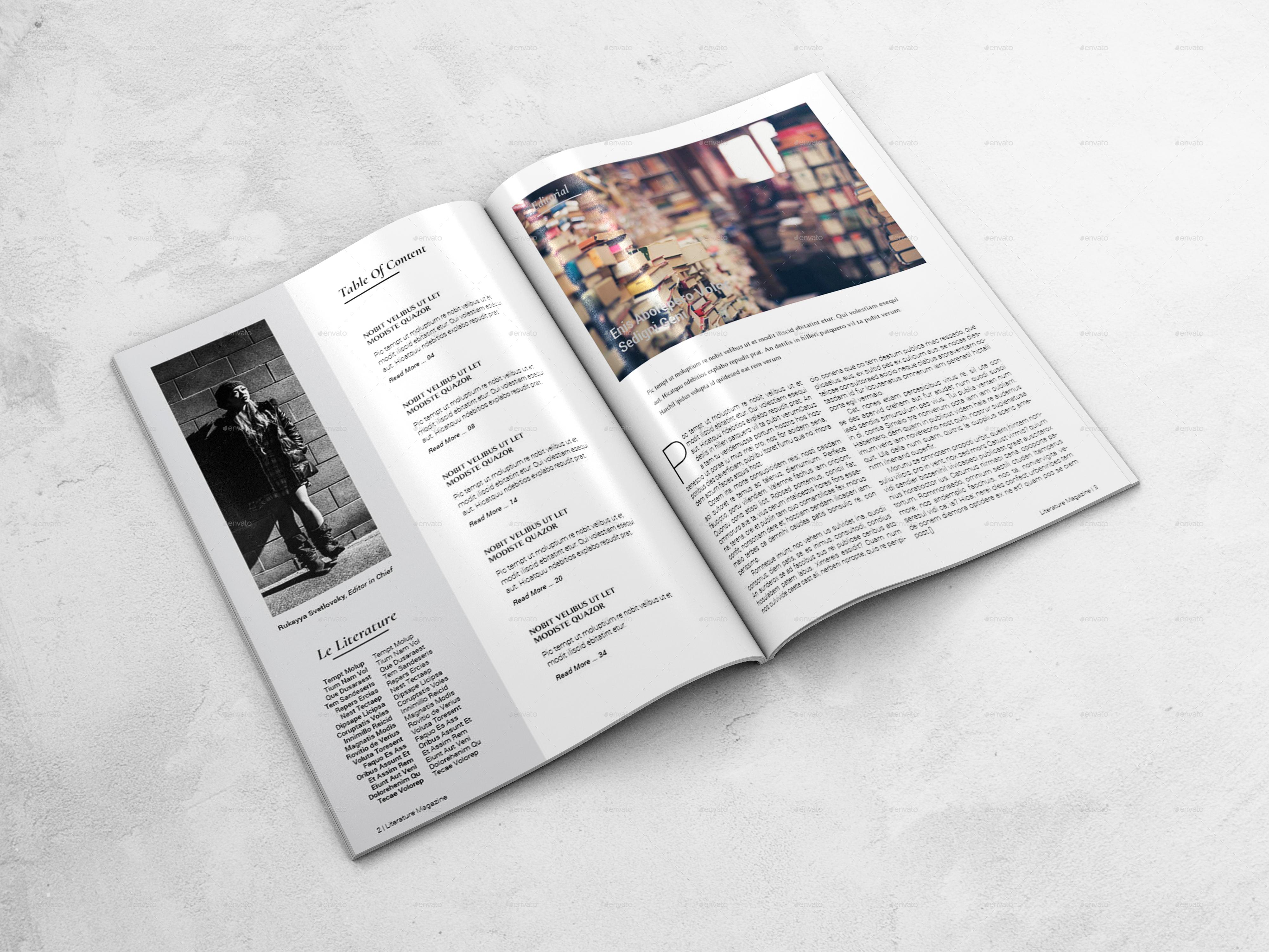 Literature Magazine Template by bookrak | GraphicRiver
