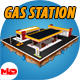Gas Station (Market, Car Wash) - 3DOcean Item for Sale