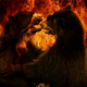 Bears Fight In Flames Abstract - VideoHive Item for Sale