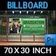 Graduation Billboard Template - GraphicRiver Item for Sale