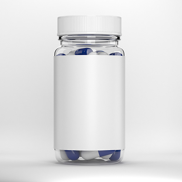 Glass pill bottle - 3DOcean Item for Sale