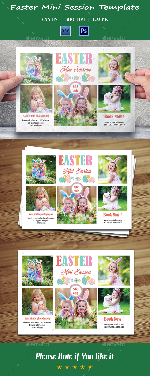 Easter Mini Session Template-V10 - Events Flyers
