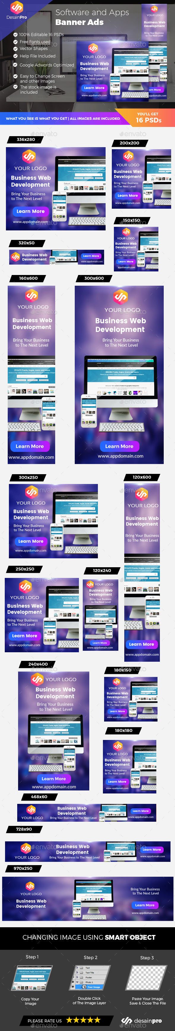 Software Banner Ads - Banners & Ads Web Elements