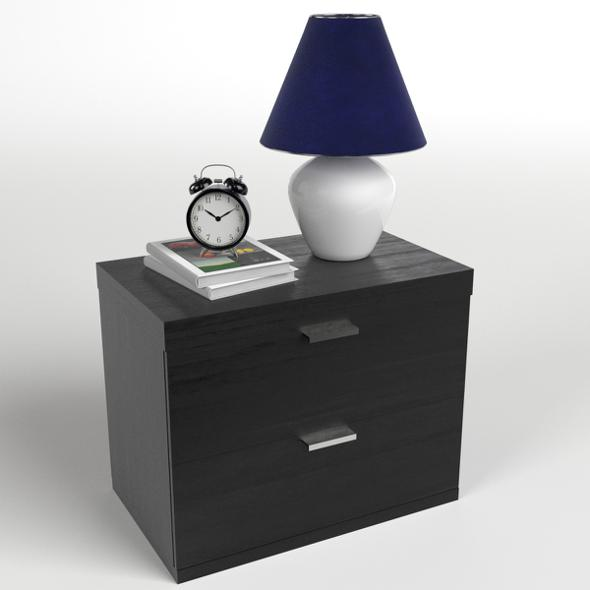 Bedside Table Set 1 - 3DOcean Item for Sale