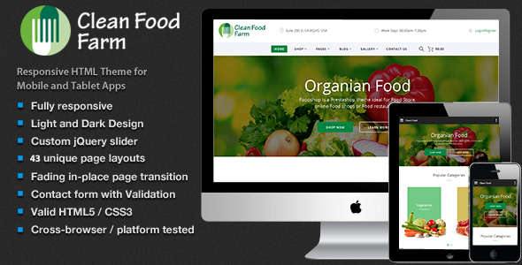 Food – Organic Store Ecommerce HTML Template