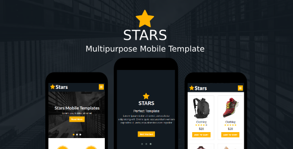 Stars - Multipurpose Mobile Template