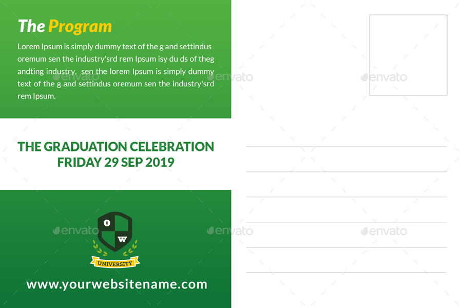 Graduation Postcard Template By OWPictures GraphicRiver - Graduation postcard template