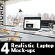 4 Realistic Laptop Mock-ups - GraphicRiver Item for Sale