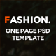 FASHION ONE PAGE PSD TEMPLATE - ThemeForest Item for Sale