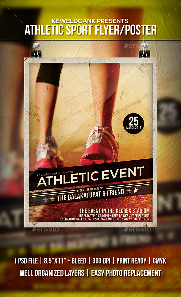 Athletic Sport Flyer / Poster - Sports Events