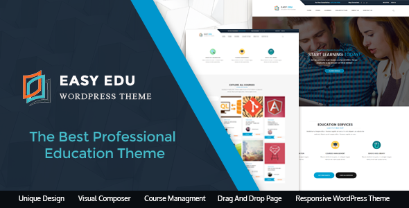 EasyEdu – Educational WordPress Theme for Academies, Collages and Universities