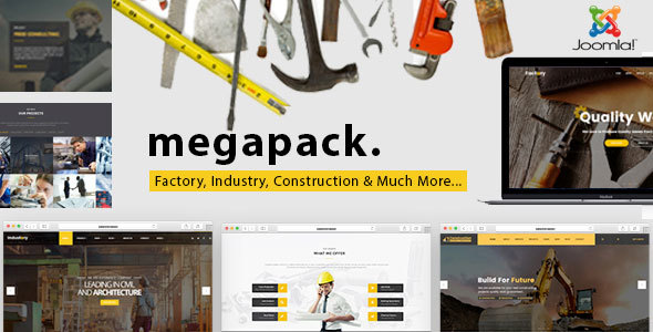 Mega Pack – Factory, Industry, Construction Joomla Template