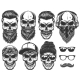Set of Different Skull Characters - GraphicRiver Item for Sale