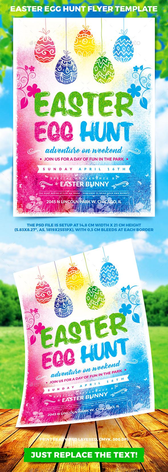 Easter Egg Hunt Flyer Template vol.1 - Holidays Events
