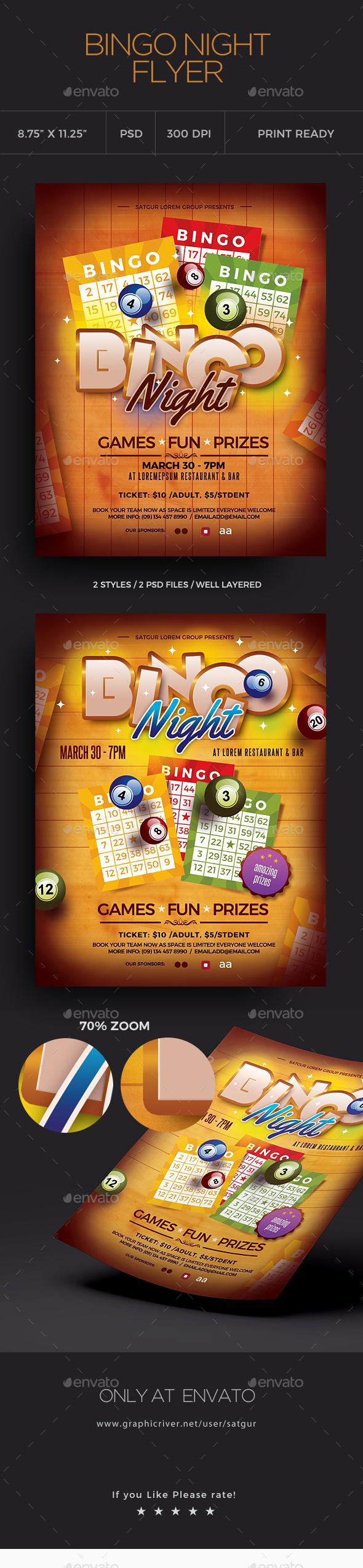 Bingo Flyer Template - Clubs & Parties Events