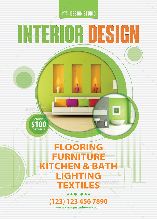 Interior design solutions poster template 52 by 21min for Interior design solutions