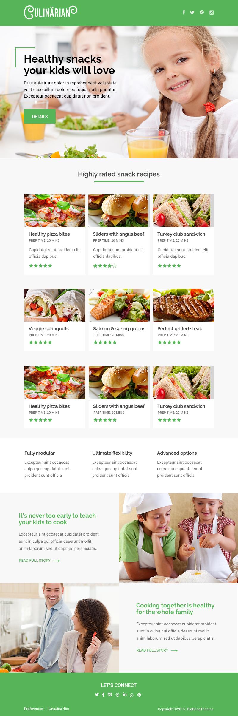 Culinarian - Multipurpose Restaurant Email + Builder Access