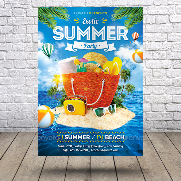 Exotic Summer Flyer - Holidays Events