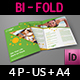 Fitness - GYM Bi-Fold Brochure Template