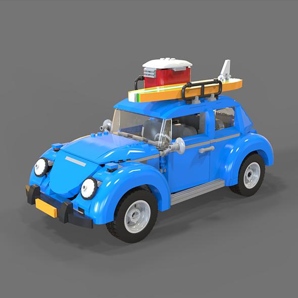Lego Volkswagen beetle - 3DOcean Item for Sale
