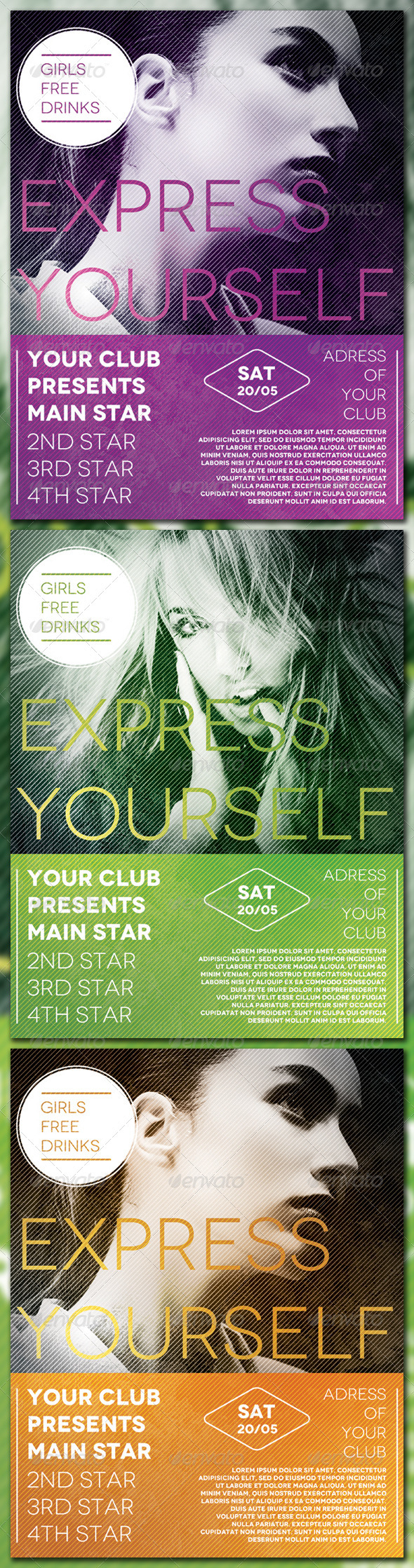 Express Yourself Flyer - Flyers Print Templates