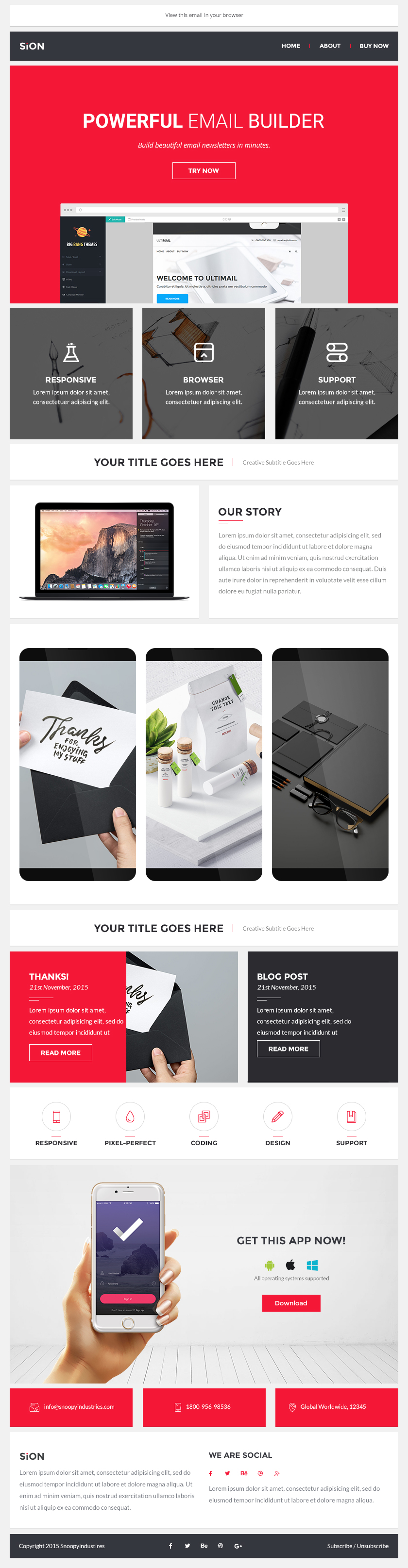 Sion - 200+ Modules Multipurpose Email + Builder Access by BigBangThemes