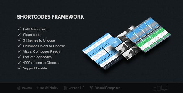 Shortcodes Framework - CodeCanyon Item for Sale