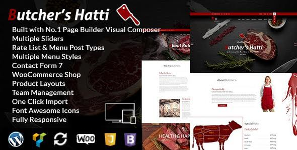 Butcher's Hatti – Butcher & Meat Shop Woocommerce WordPress Theme