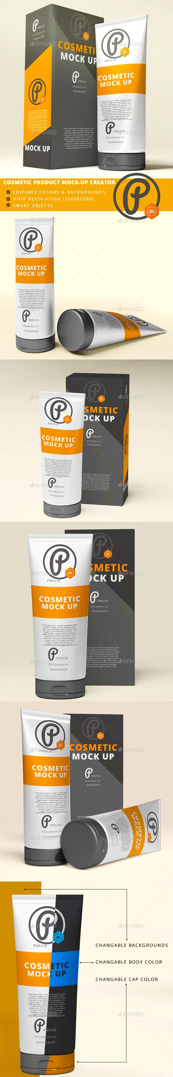 Cream Tubes Mock Up Kit - Beauty Packaging