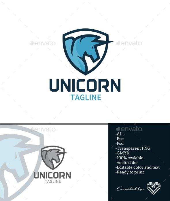 Unicorn - Animals Logo Templates