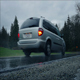 Car Drives Through Park On Rainy Day - VideoHive Item for Sale
