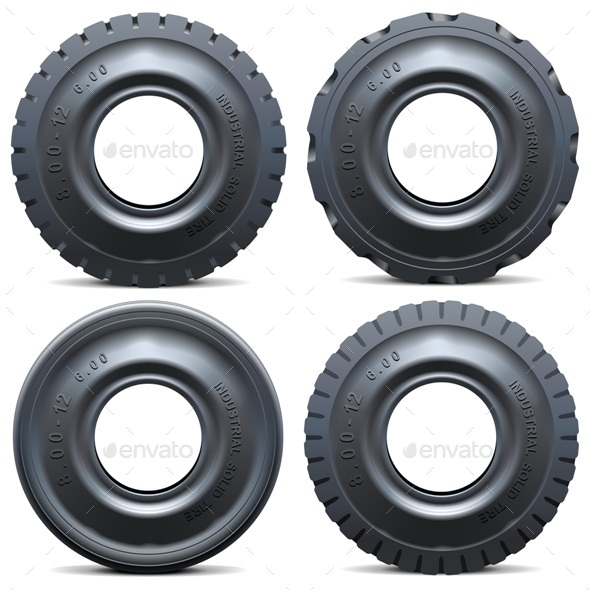 Vector Forklift Tractor Tire - Industries Business