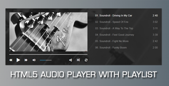Audio Player with Playlist V2 - CodeCanyon Item for Sale