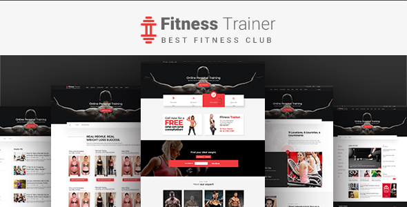 Fitness Trainer-PSD Template - Health & Beauty Retail